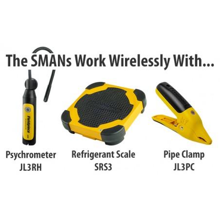 Analisador Digital De Refrigeração 3Vias e Vacuómetro Wireless | Fieldpiece | SM380V | Ferramentas | Fieldpiece