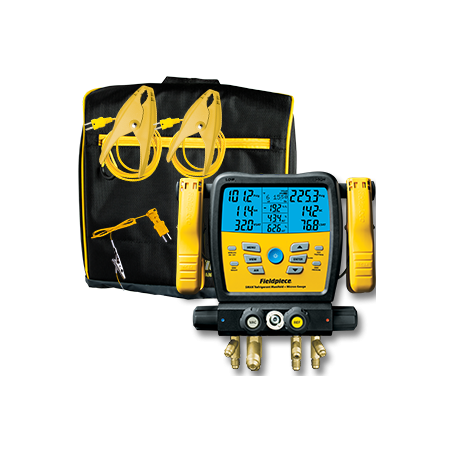 Analisador Digital De Refrigeração 4Vias e Vacuómetro Wireless | Fieldpiece | SM480V | Ferramentas | Fieldpiece