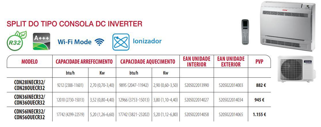 ar condicionado consola gama comercial para lojas